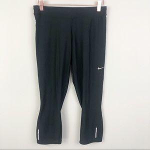 NIKE | Dri Fit Black Capri Leggings Size Large